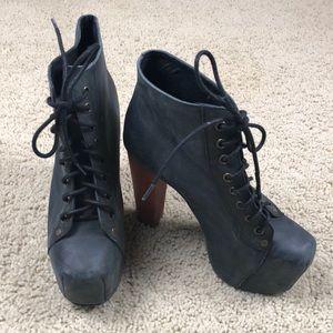Jeffrey Campbell Black Lita Boots Sz 7